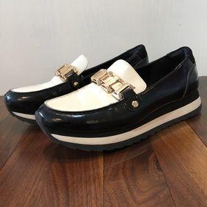 ALDO Black & White Platform Loafers